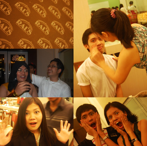 Ral's; Bikoy getting dethroned; Rona; Me and Kea!!!; Popular Sandy doing my make-up (Pics by Jean Agor)