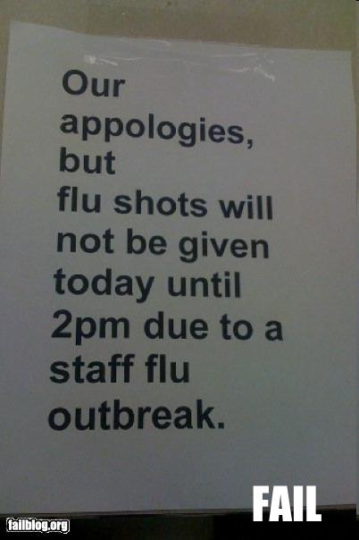 Flu Alert at All Levels!!! (Pic from FAILBLOG)