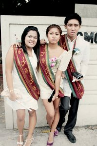 CMC-JMA Graduates! With KJ and Bia. (Pic by Brian Catbagan)