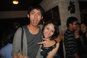 With (somehow sober) Mara Luna (Pic by Ayen dela Torre)